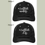 #Softball Momlife or Softball Life Cap