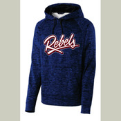 Ladies/Youth/Adult Rebels PosiCharge® Electric Heather Fleece Hooded Pullover