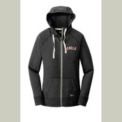 Ladies/Men's Rebels New Era® Sueded Cotton Blend Full-Zip Hoodie