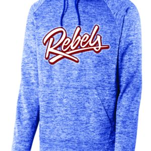 Ladies/Youth/Adult Rebels PosiCharge® Electric Heather Fleece Hooded Pullover Thumbnail
